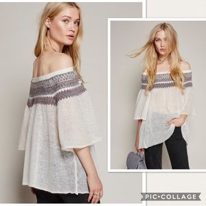 Free People Lock Lomand Off Shoulder Sweater